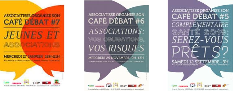 3 affiches de nos cafés débat