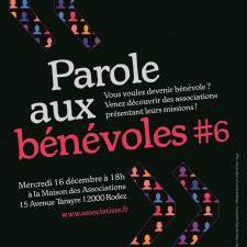 affiche de l animation PAROLE AUX BENEVOLES