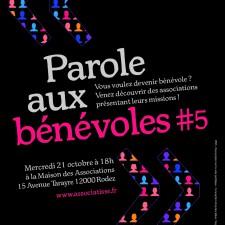 affiche de l'animation PAROLE AUX BENEVOLES