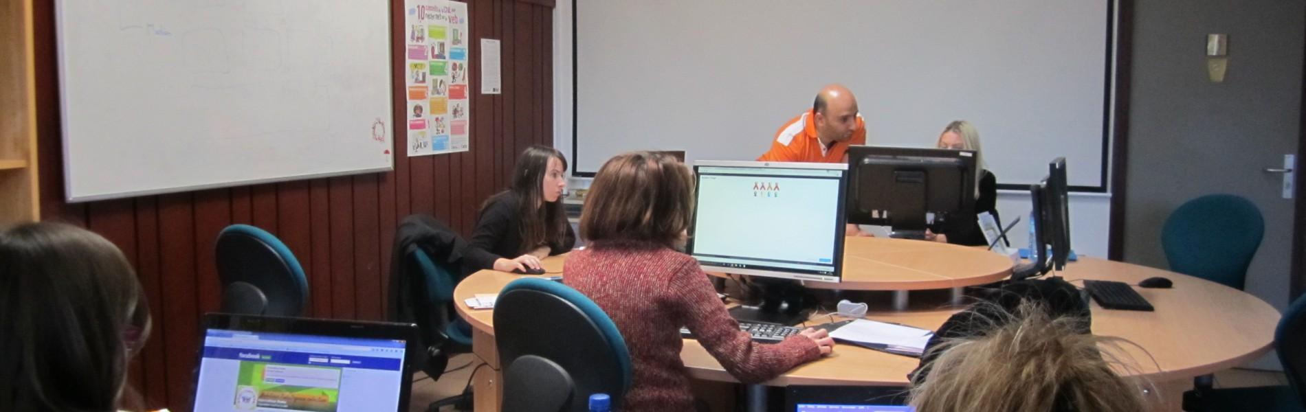 atelier création de site internet à la MJC