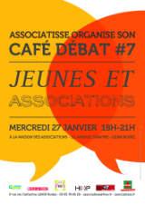 affiche du cafe debat JEUNES & ASSOCIATIONS du 27 janvier 2016