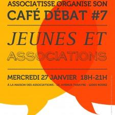 affiche café débat jeunes & associations