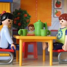 famille à table