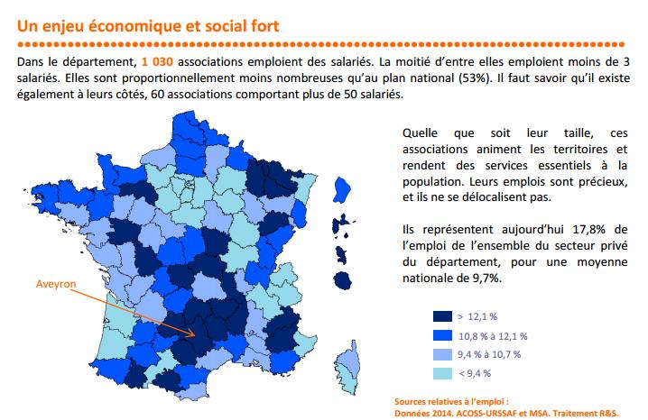 carte de france des emplois associatifs