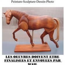 """affiche du concours """"le cheval dans tous ses états"""""""