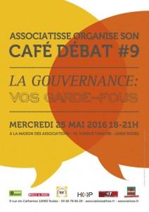 affiche du café débat LA GOUVERNANCE : vos garde-fous