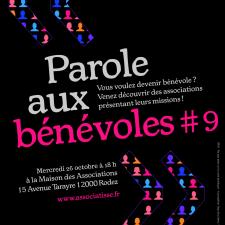 affiche de notre 9ème animation PAROLE AUX BENEVOLES du 26 octobre 2016