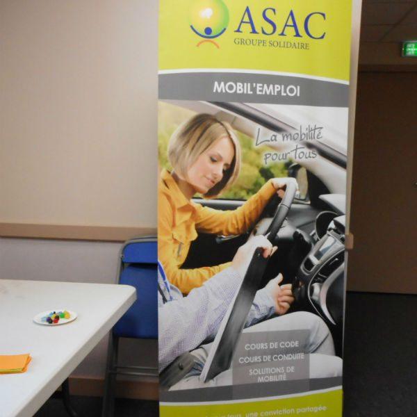 Panneau MOBIL EMPLOI section de l'ASAC