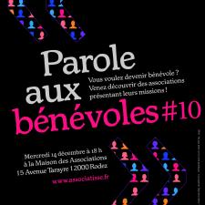 Affiche de l'animation du 14/12 PAROLE AUX BENEVOLES