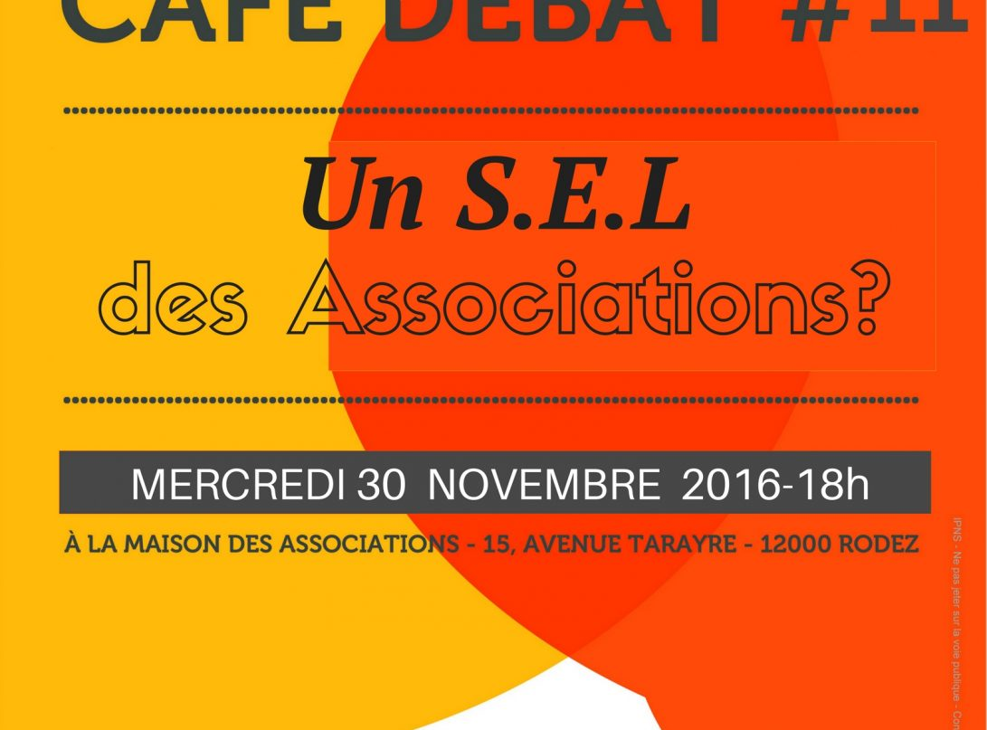 affiche du café débat du 30 novembre 2016