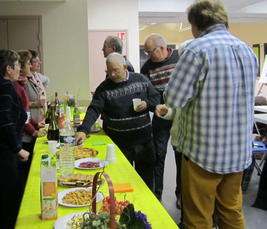 Le buffet du 12ème Café Débat d'ASSOCIATISSE