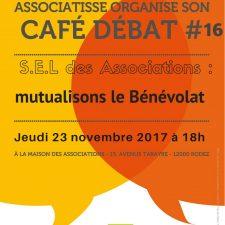 affiche du 16ème café débat ASSOCIATISSE du 23 novembre 2017